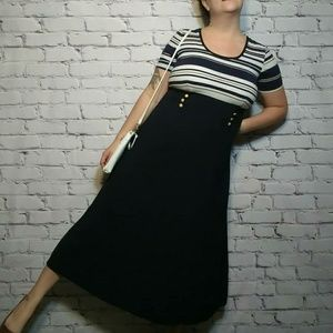Dresses & Skirts - 80s/90s Yacht Rock Nautical Summer Dress